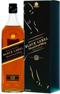 Whisky Johnnie Walker Black Label 12 YO + GB 40% 1l