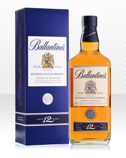 Whisky Ballantines 12 YO + GB 40% 0,7l