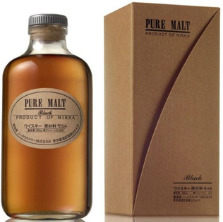 Whisky Nikka Black Pure Malt + GB 43% 0,5l