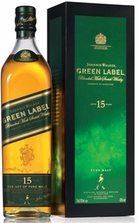 Whisky Johnnie Walker Green Label + GB 43% 1l